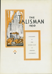 Page 7, 1930 Edition, Friends University - Talisman Yearbook (Wichita, KS) online yearbook collection