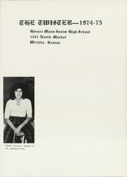 Page 5, 1975 Edition, Horace Mann Middle School - Twister Yearbook (Wichita, KS) online yearbook collection