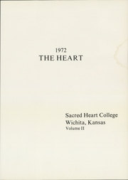 Page 5, 1972 Edition, Newman University - Heart Yearbook (Wichita, KS) online yearbook collection