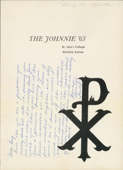 Page 5, 1963 Edition, St Johns College - Johnnie Yearbook (Winfield, KS) online yearbook collection