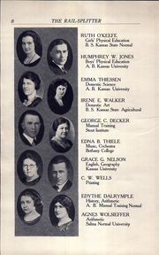 Page 10, 1922 Edition, Roosevelt Lincoln Middle School - Yearbook (Salina, KS) online yearbook collection