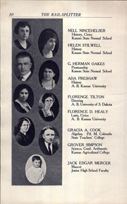 Page 12, 1922 Edition, Roosevelt Lincoln Middle School - Yearbook (Salina, KS) online yearbook collection