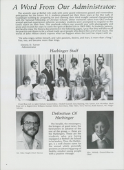 Page 8, 1982 Edition, Bethel Life School - Harbinger Yearbook (Wichita, KS) online yearbook collection