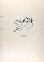 Page 4, 1930 Edition, Kansas City Kansas Community College - Owaissa Yearbook (Kansas City, KS) online yearbook collection