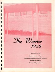 Page 5, 1958 Edition, Indian Hills Middle School - Warrior Yearbook (Prairie Village, KS) online yearbook collection