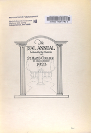 Page 7, 1923 Edition, St Marys College - Dial Yearbook (St Marys, KS) online yearbook collection