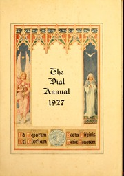 Page 5, 1927 Edition, St Marys College - Dial Yearbook (St Marys, KS) online yearbook collection