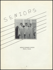 Page 7, 1958 Edition, Menlo High School - Tiger Yearbook (Menlo, KS) online yearbook collection