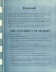 Page 7, 1952 Edition, University of Detroit - Tower Yearbook (Detroit, MI) online yearbook collection
