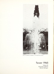 Page 5, 1965 Edition, University of Detroit - Tower Yearbook (Detroit, MI) online yearbook collection