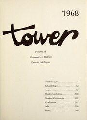 Page 5, 1968 Edition, University of Detroit - Tower Yearbook (Detroit, MI) online yearbook collection