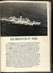 Page 5, 1987 Edition, Brewton (FF 1086) - Naval Cruise Book online yearbook collection