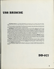 Page 7, 1988 Edition, Briscoe (DD 977) - Naval Cruise Book online yearbook collection