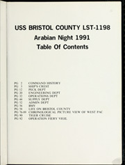 Page 5, 1991 Edition, Bristol County (LST 1198) - Naval Cruise Book online yearbook collection