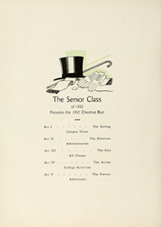 Page 12, 1932 Edition, Kent State University - Chestnut Burr Yearbook (Kent, OH) online yearbook collection