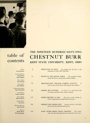 Page 9, 1962 Edition, Kent State University - Chestnut Burr Yearbook (Kent, OH) online yearbook collection