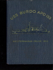Page 1, 1953 Edition, Burdo (APD 133) - Naval Cruise Book online yearbook collection
