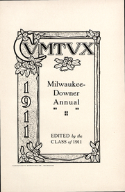 Page 3, 1911 Edition, Milwaukee Downer College - Cumtux Yearbook (Milwaukee, WI) online yearbook collection