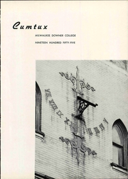 Page 9, 1955 Edition, Milwaukee Downer College - Cumtux Yearbook (Milwaukee, WI) online yearbook collection