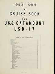 Page 5, 1954 Edition, Catamount (LSD 17) - Naval Cruise Book online yearbook collection