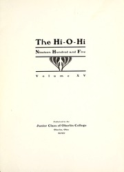 Page 7, 1905 Edition, Oberlin College - Hi-O-Hi Yearbook (Oberlin, OH) online yearbook collection