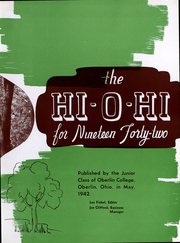 Page 5, 1942 Edition, Oberlin College - Hi-O-Hi Yearbook (Oberlin, OH) online yearbook collection