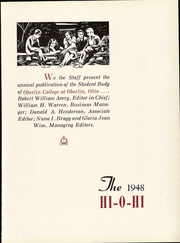 Page 9, 1948 Edition, Oberlin College - Hi-O-Hi Yearbook (Oberlin, OH) online yearbook collection