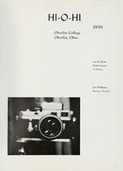 Page 5, 1959 Edition, Oberlin College - Hi-O-Hi Yearbook (Oberlin, OH) online yearbook collection