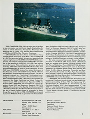 Page 7, 1986 Edition, Chandler (DDG 996) - Naval Cruise Book online yearbook collection