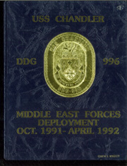 1992 Edition, Chandler (DDG 996) - Naval Cruise Book