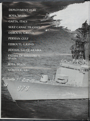 Page 4, 1982 Edition, Conolly (DD 979) - Naval Cruise Book online yearbook collection
