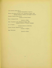 Page 12, 1905 Edition, University of Oregon - Oregana Yearbook (Eugene, OR) online yearbook collection