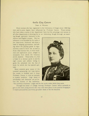 Page 14, 1905 Edition, University of Oregon - Oregana Yearbook (Eugene, OR) online yearbook collection