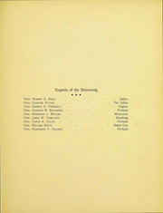 Page 6, 1905 Edition, University of Oregon - Oregana Yearbook (Eugene, OR) online yearbook collection