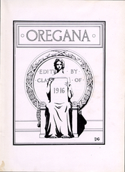 Page 5, 1916 Edition, University of Oregon - Oregana Yearbook (Eugene, OR) online yearbook collection