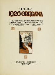 Page 11, 1926 Edition, University of Oregon - Oregana Yearbook (Eugene, OR) online yearbook collection