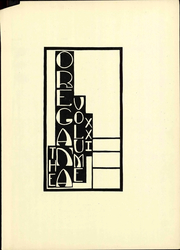 Page 9, 1929 Edition, University of Oregon - Oregana Yearbook (Eugene, OR) online yearbook collection
