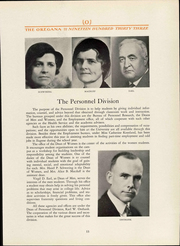 Page 15, 1933 Edition, University of Oregon - Oregana Yearbook (Eugene, OR) online yearbook collection