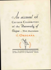 Page 5, 1933 Edition, University of Oregon - Oregana Yearbook (Eugene, OR) online yearbook collection