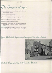 Page 7, 1937 Edition, University of Oregon - Oregana Yearbook (Eugene, OR) online yearbook collection