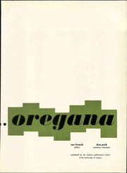 Page 9, 1956 Edition, University of Oregon - Oregana Yearbook (Eugene, OR) online yearbook collection