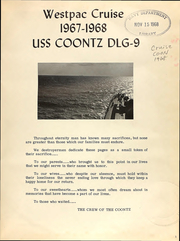 Page 3, 1968 Edition, Coontz (DLG 9) - Naval Cruise Book online yearbook collection