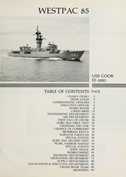 Page 5, 1985 Edition, Cook (FF 1083) - Naval Cruise Book online yearbook collection