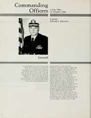 Page 8, 1985 Edition, Cook (FF 1083) - Naval Cruise Book online yearbook collection