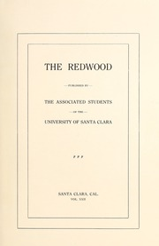 Page 5, 1923 Edition, University of Santa Clara - Redwood Yearbook (Santa Clara, CA) online yearbook collection