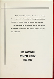 Page 5, 1960 Edition, Cogswell (DD 651) - Naval Cruise Book online yearbook collection