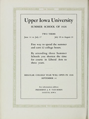 Page 156, 1926 Edition, Upper Iowa University - Peacock Yearbook (Fayette, IA) online yearbook collection