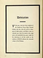 Page 10, 1919 Edition, Southwest Texas State Teachers College - Pedagog Yearbook (San Marcos, TX) online yearbook collection