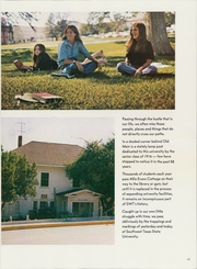 Page 17, 1974 Edition, Southwest Texas State Teachers College - Pedagog Yearbook (San Marcos, TX) online yearbook collection
