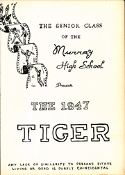 Page 7, 1947 Edition, Murray High School - Tiger Yearbook (Murray, KY) online yearbook collection